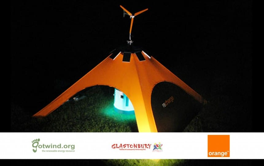 recharge tent orange image