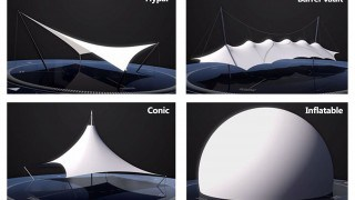 Common shapes of fabric structures