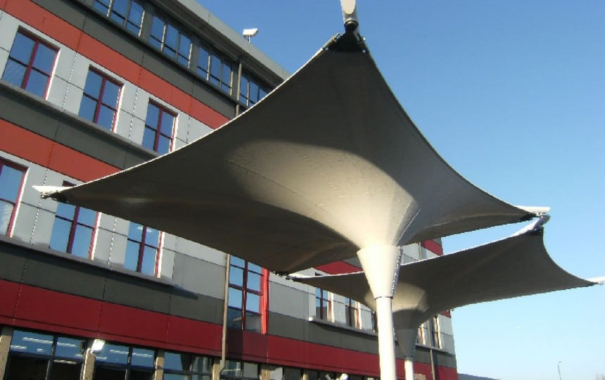 School inverted canopy
