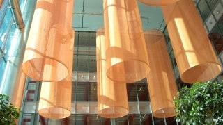 Interior Sculptural Fabric Cones