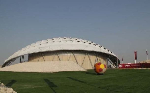 Doha Stadium covered with tensile fabric LowE