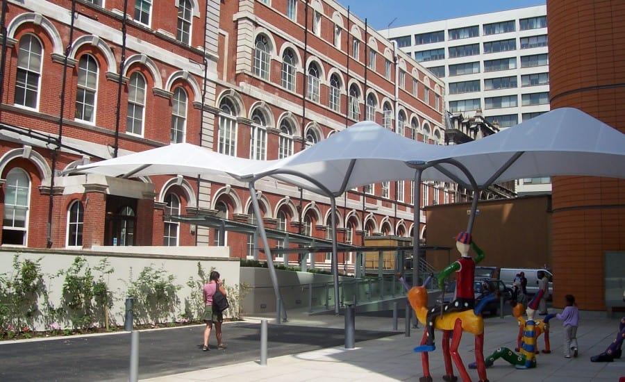 Tenara walkway and entrance canopies