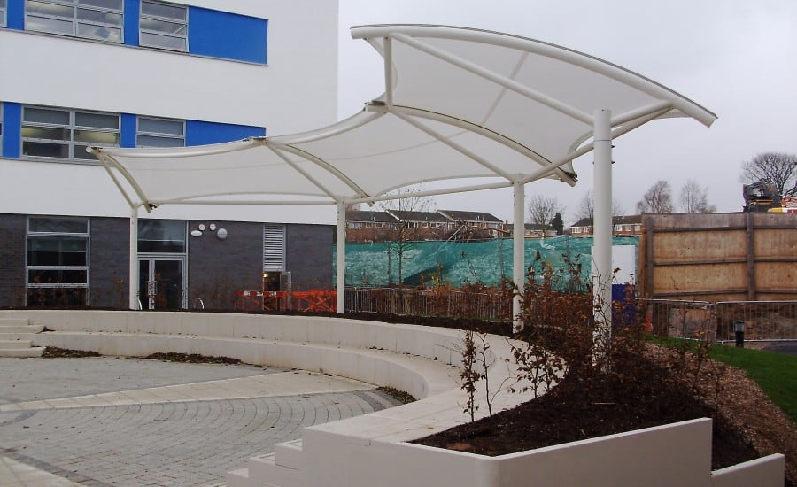 Silicone Glass fabric school canopy