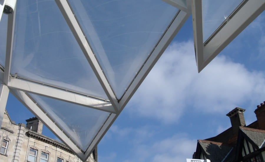 ETFE cushion roof over bus station