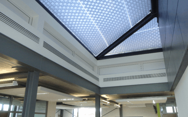 ETFE Intelligent Printing roof inside University