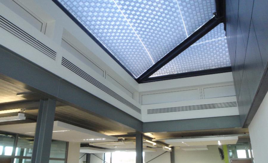 ETFE Intelligent Printing roof inside University