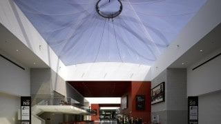 ETFE Foil cushion over exhibition space