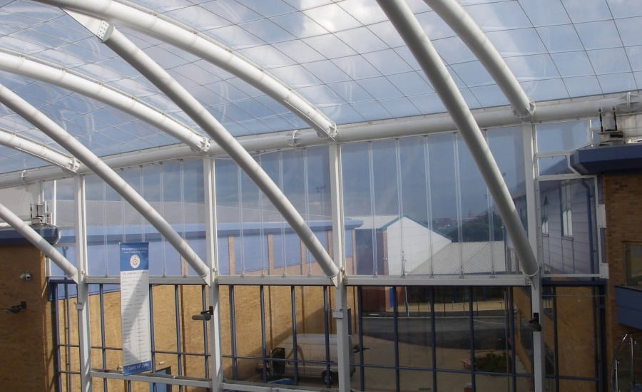 ETFE Foil single layer over school courtyard