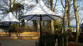 Silicone Glass fabric school shade canopy