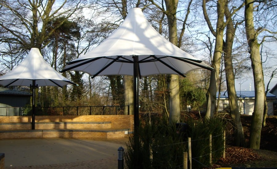Silicone Glass fabric school shade canopy