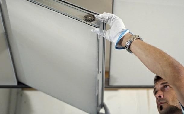 Modular fabric ceiling panel