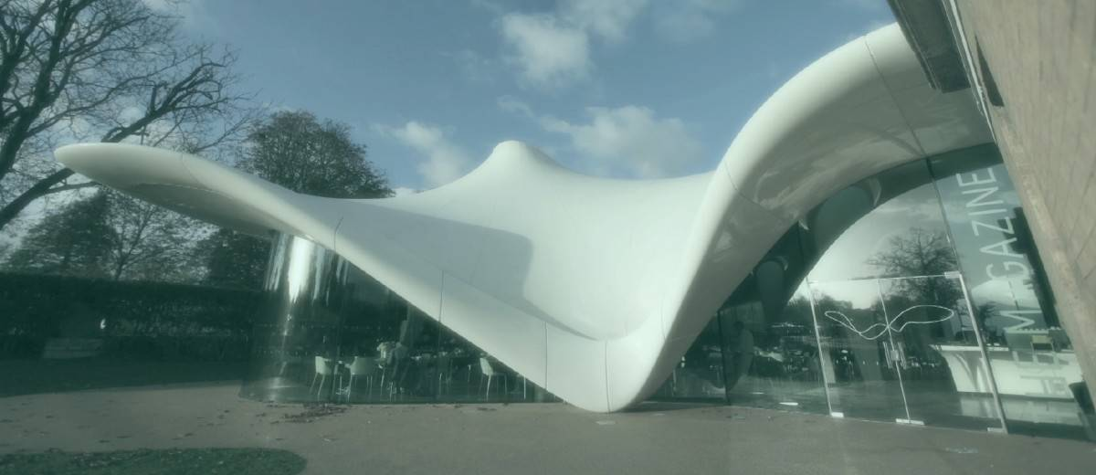 Serpentine magazine fabric conic free flowing structure