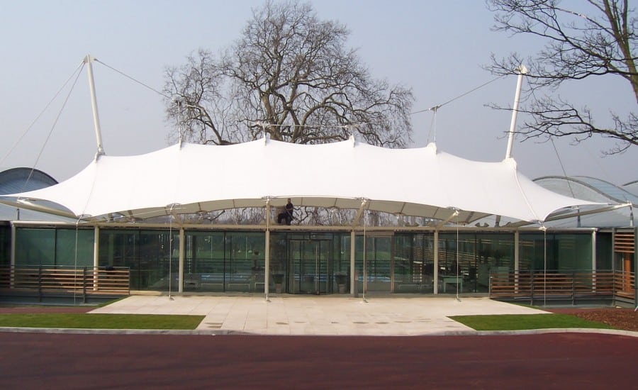 Fabric roof canopy