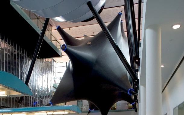 Sculptural fabric interior structure