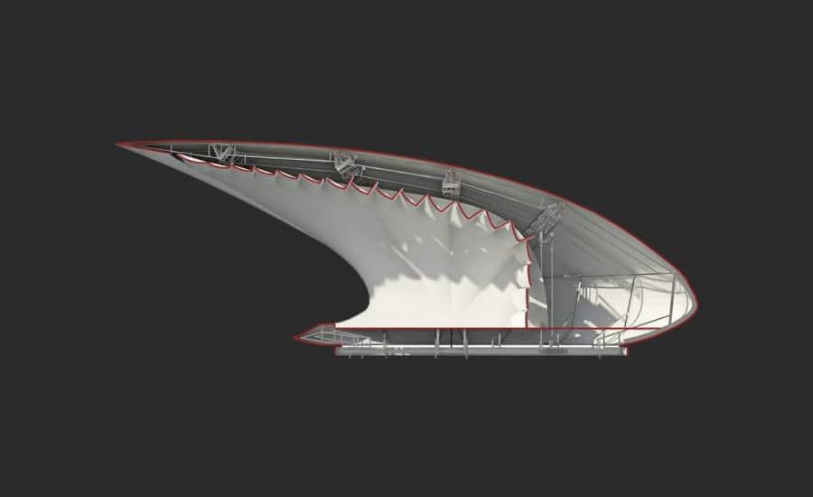 Tensile fabric structure design