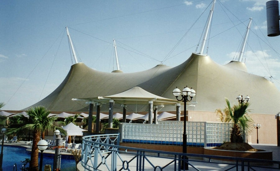 PVC tented structure at holiday resort