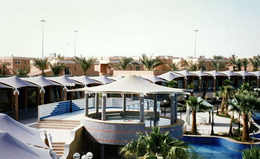 Series of architectural tensile canopies