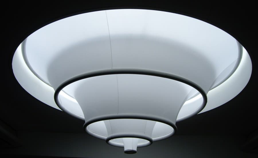 tensile fabric light feature