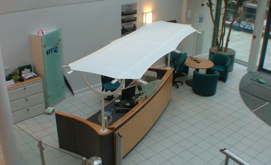 Solar glare desk canopy