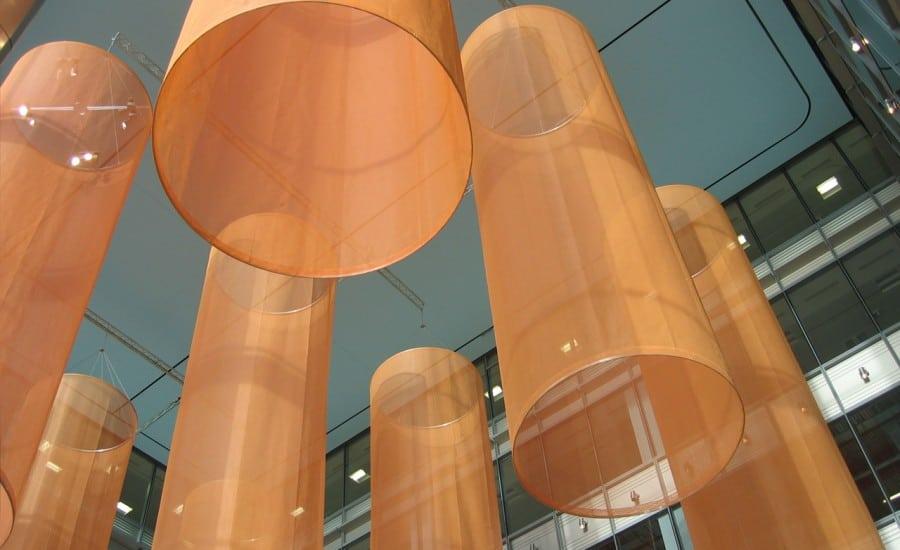 Decorative fabric installation