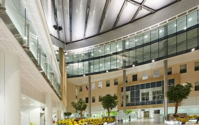 Atrium roof in hospital