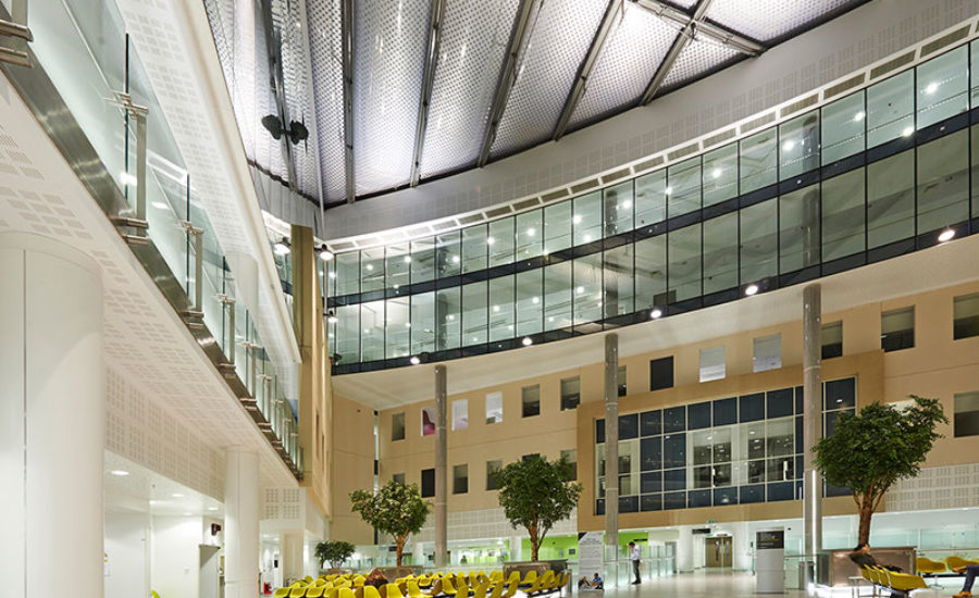 Atrium roof in hospital
