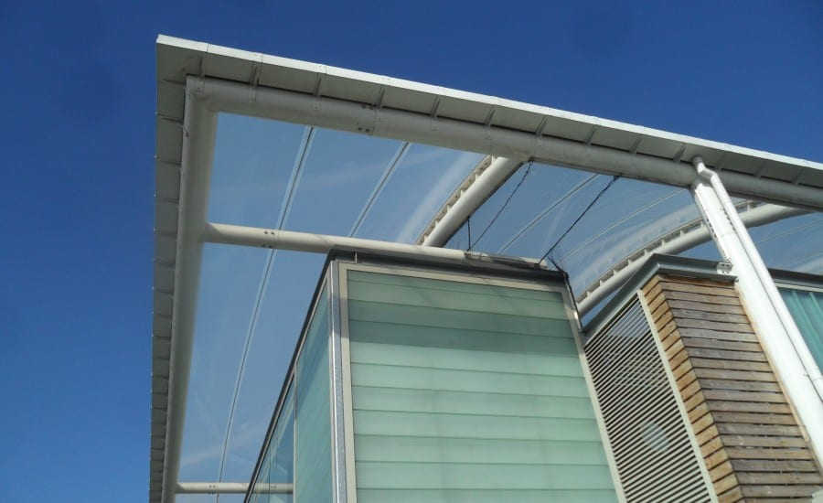 Clear ETFE roof