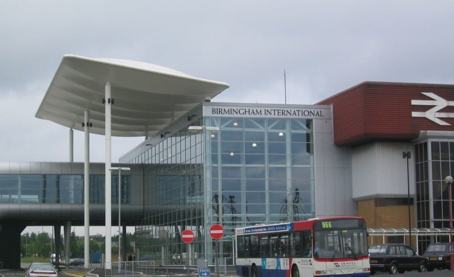 Birmingham airport entrance canopy