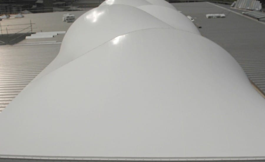 PVC white barrel vaulted roof