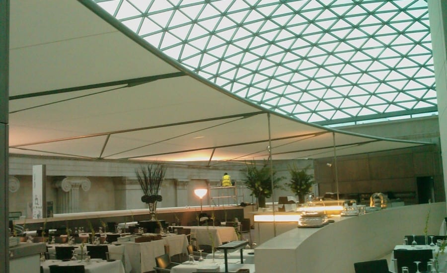 Fabric shade for restaurant