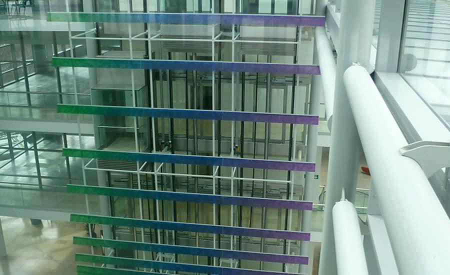 colourful interior perspex