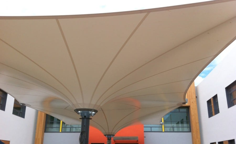 Fabric structure for playground