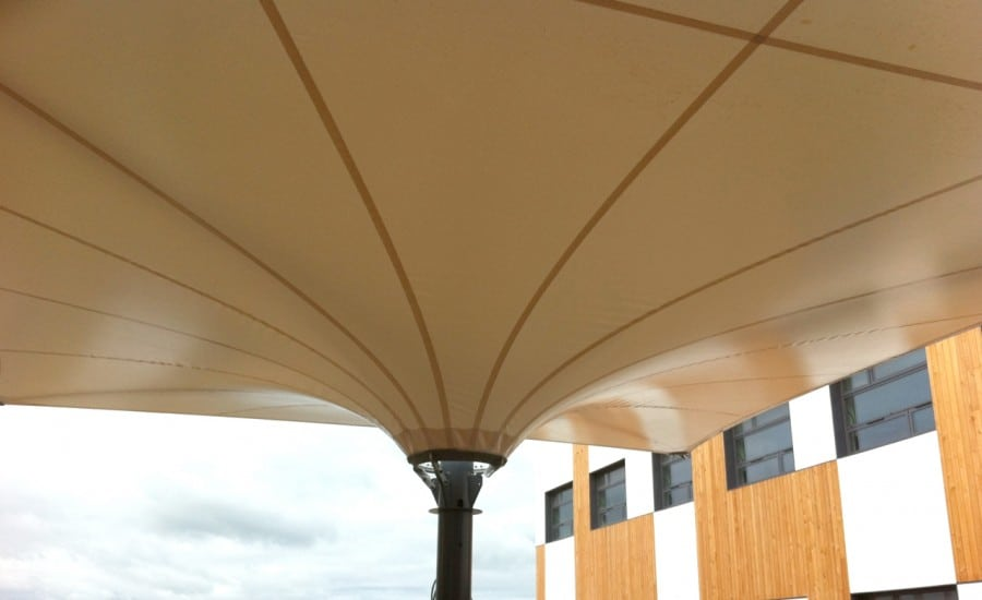 Canopy over play area