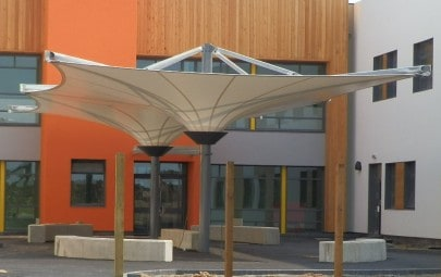 Double conic fabric School canopy