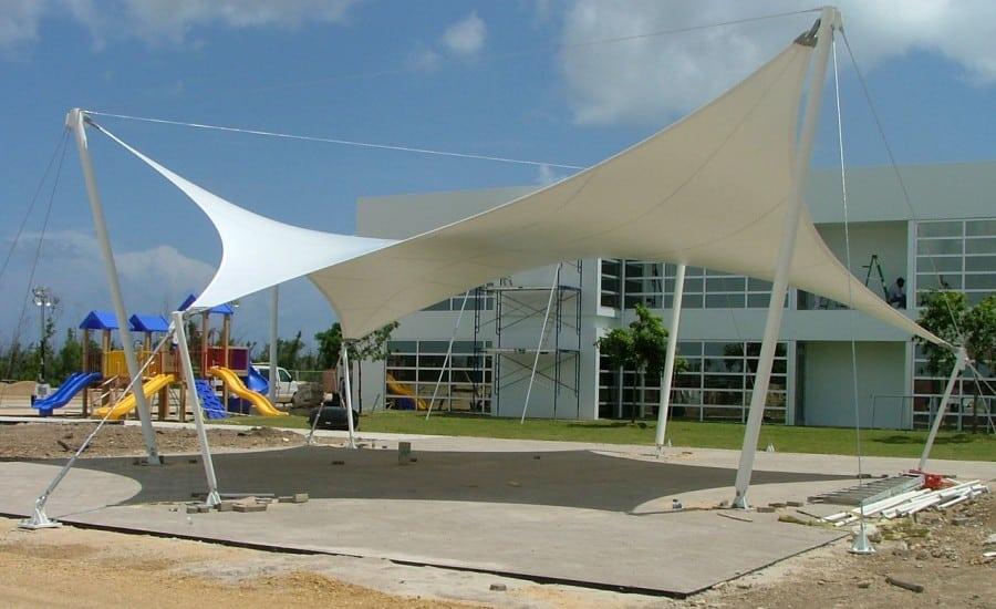 Outdoor canopy providing shade