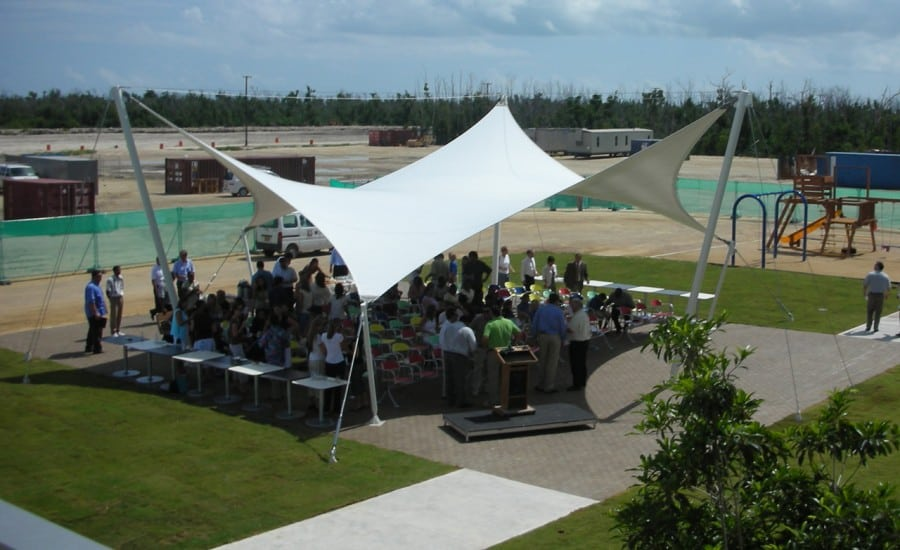 Six sided fabric sail structure