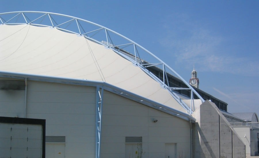 PVC tensile curved structure