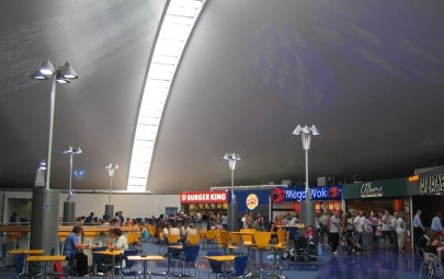 Fully insulated fabric roof over services