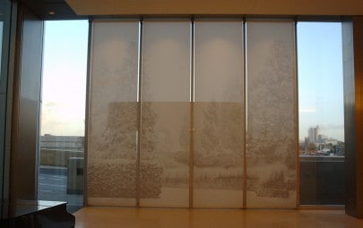 Printed fabric interior screens