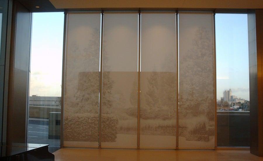 Printed fabric interior screens
