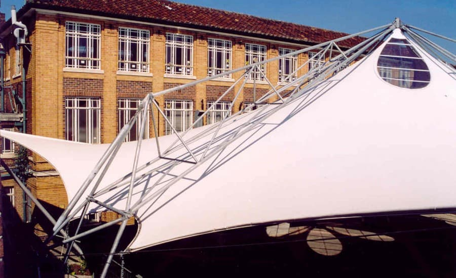 PVC canopy with steel frame