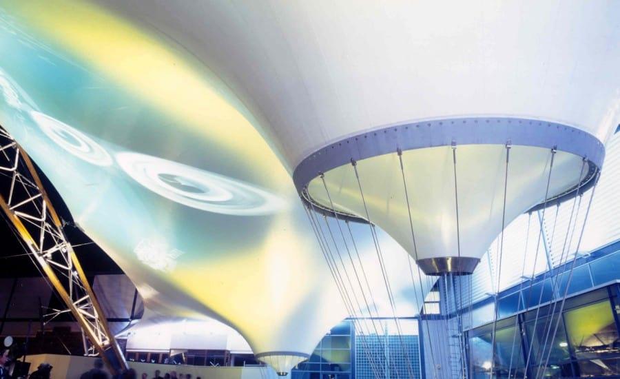 LED lit fabric entranceway