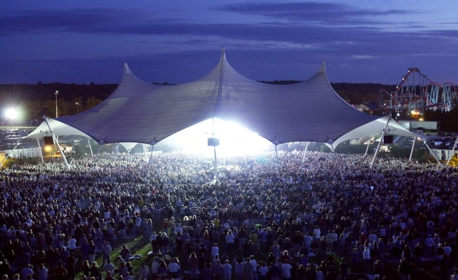 PVC coated polyester canopy over an amphitheatre