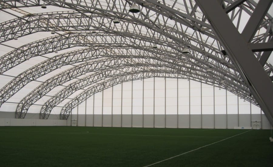 Football pitch canopy