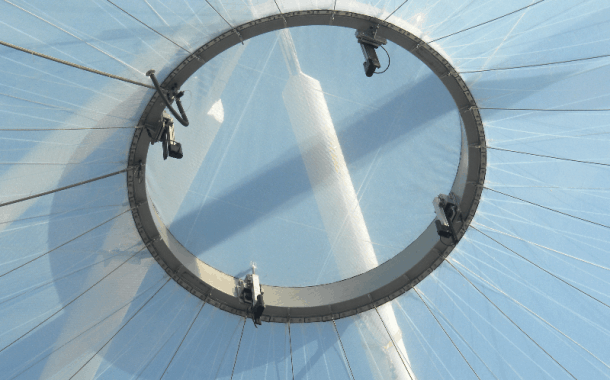 ETFE with actuated headring panel for Ventilation
