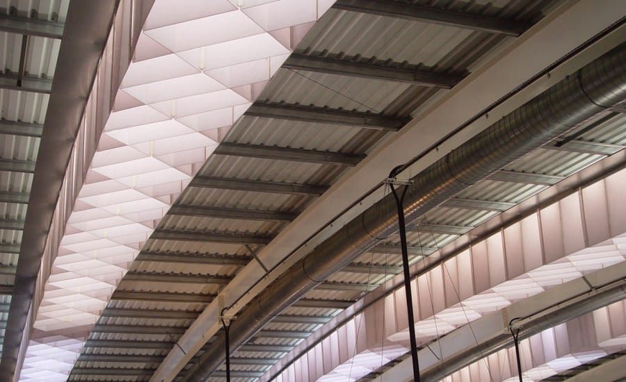 Fabric skylight diffusers