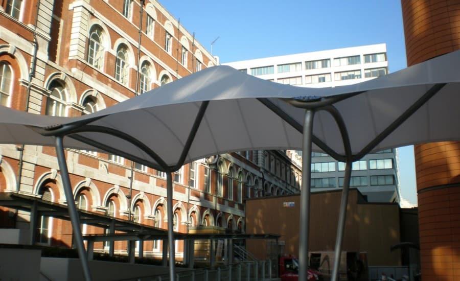 Modern hospital canopy