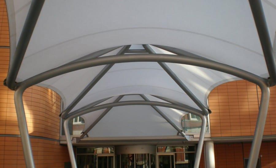 Impressive entrance canopy