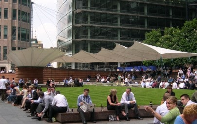 Series of tensile canopies for public area
