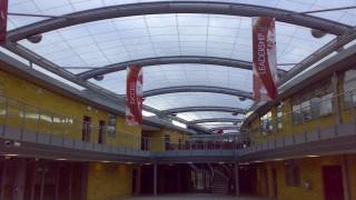ETFE roof over school courtyard